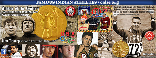 FAMOUS AMERICAN INDIAN SPORTS SUPERSTAR ATHLETES